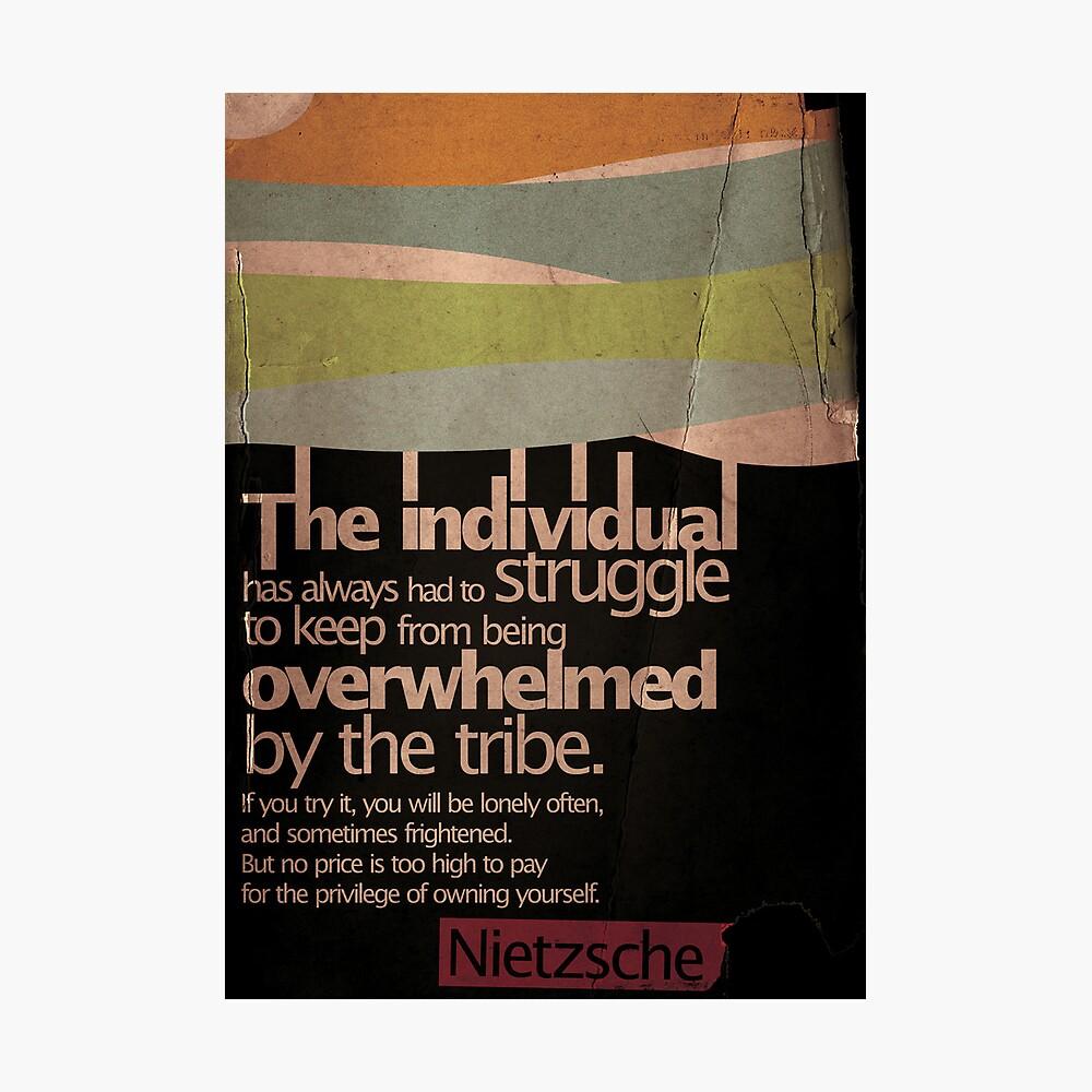 Humanity. Nietzsche. Fotodruck