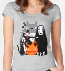 Ghibli'd Away Women's Fitted Scoop T-Shirt