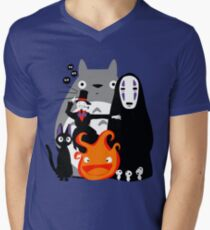 Ghibli'd Away Men's V-Neck T-Shirt