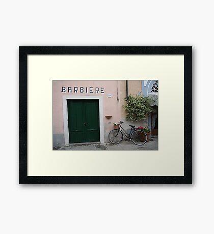 Barbiere Framed Print