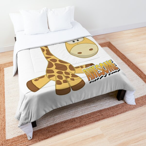 Giraffe Awesome Cute Kawaii Cartoon Comforter