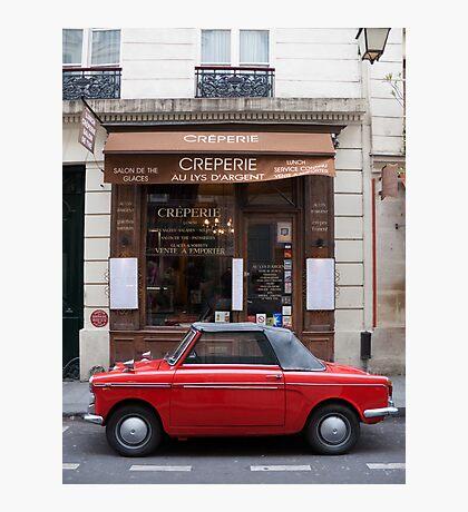Autobianchi in Paris Photographic Print