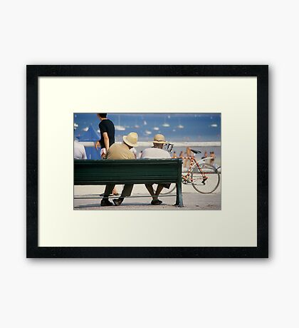 Couple at the seaside Framed Print