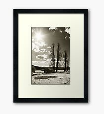 Somewhere in the Hills Framed Print