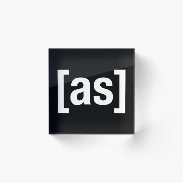 [as] - White Acrylic Block