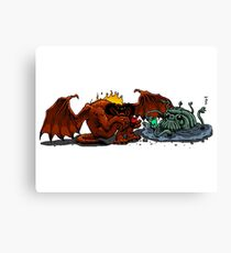 Moria Monsters Texting Canvas Print