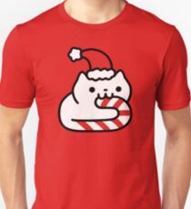 Candy Cane Cat Unisex T-Shirt