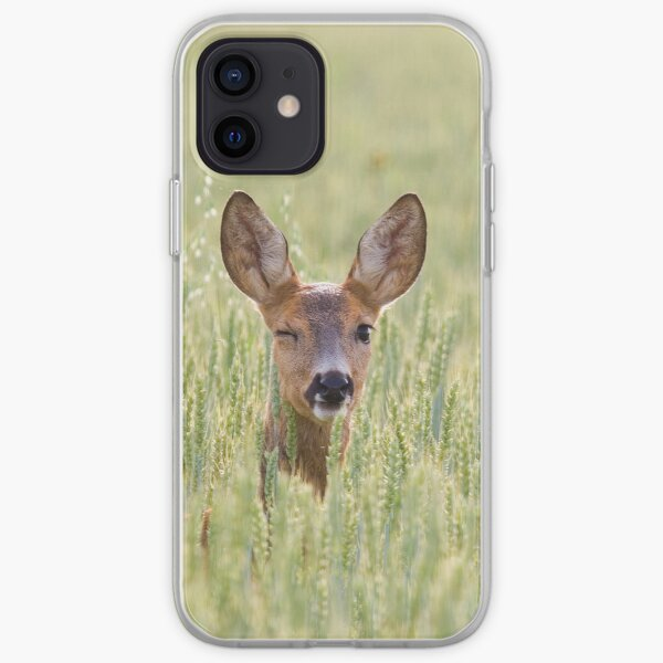 Winking deer [iPhone/iPod case] iPhone Soft Case