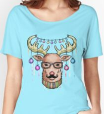 Deer Christmas & New Year Women's Relaxed Fit T-Shirt