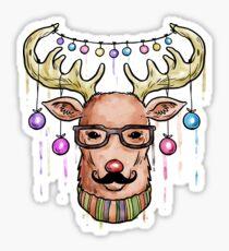 Deer Christmas & New Year Sticker