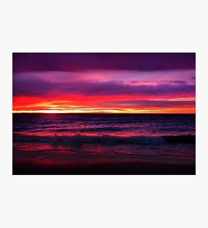 Rainbow Coloured Sunset Photographic Print