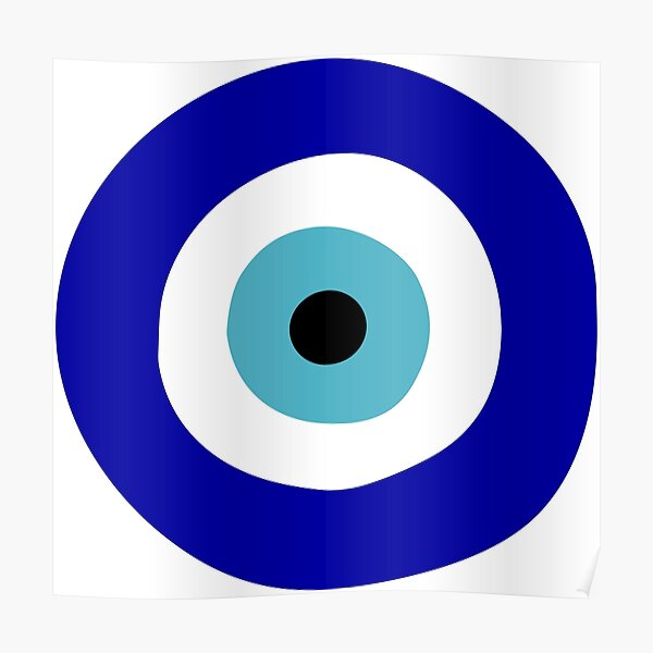 Protection Symbol Blue Evil Eye of Protection Poster