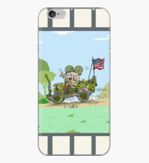 WW2 US Army jeep at countryside iPhone Case