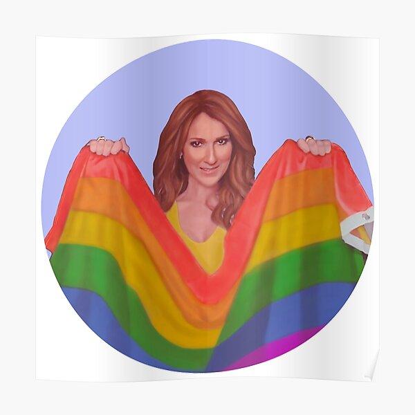 drapeau gay celine dion Poster