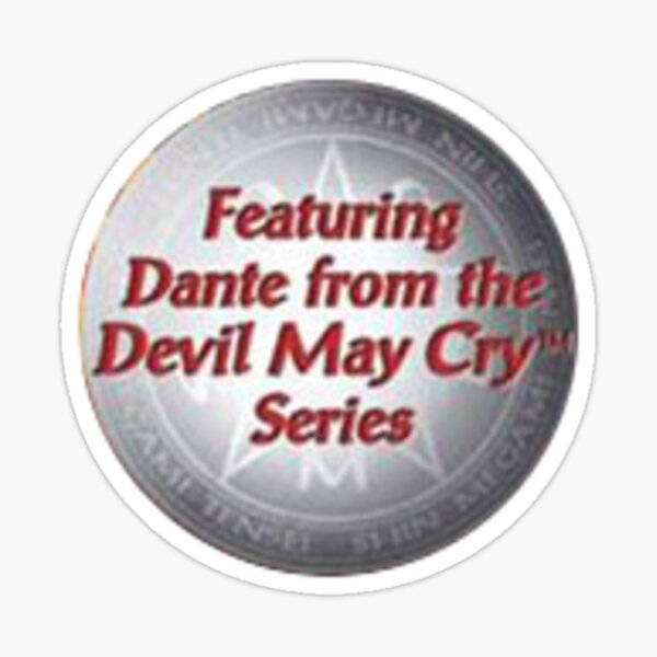 featuring Dante from the Devil May Cry series Sticker