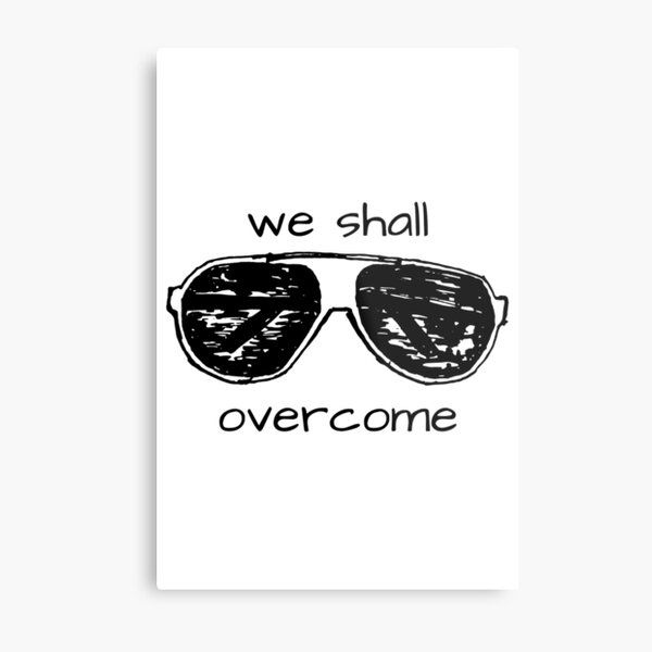 "Gloria Steinem ""we shall overcome"" aviator sunglasses Metal Print"