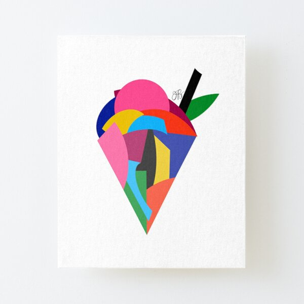 Abstract Ice Cream Canvas Mounted Print