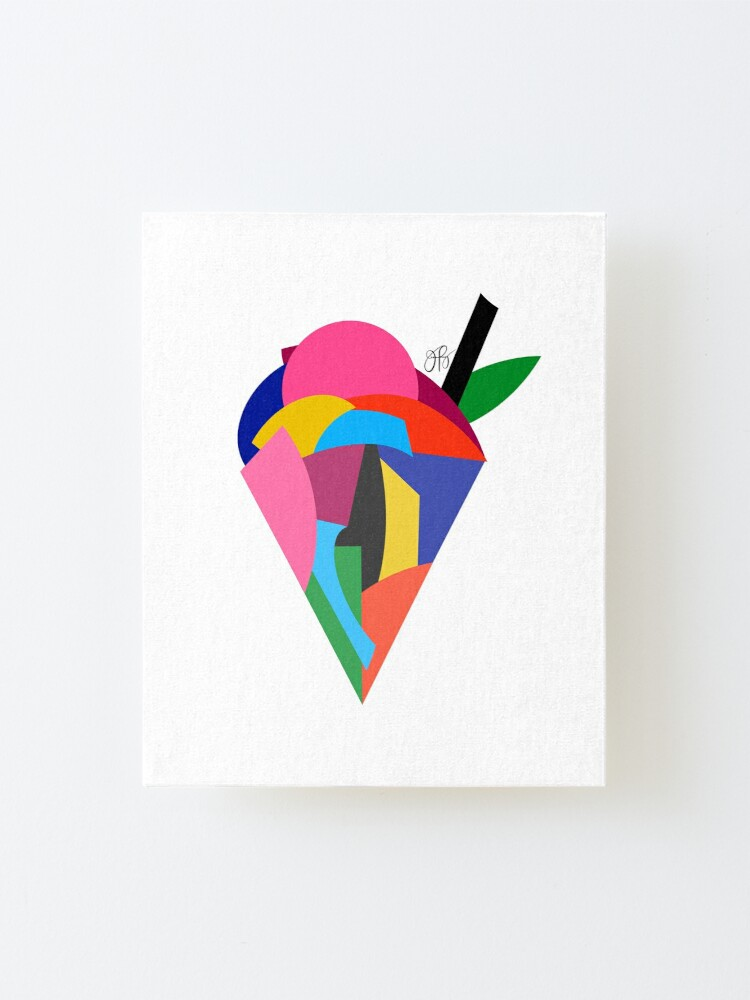 Alternate view of Abstract Ice Cream Mounted Print