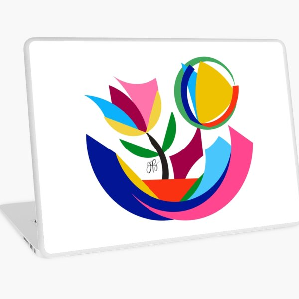 Abstract Flower Dish Laptop Skin