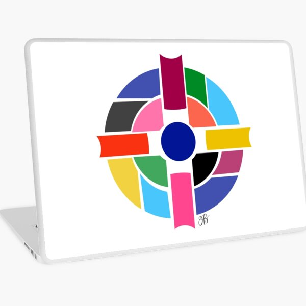 Abstract Cross Laptop Skin