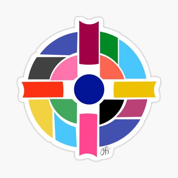 Abstract Cross Sticker
