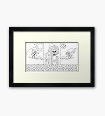 Surf zombies Framed Print