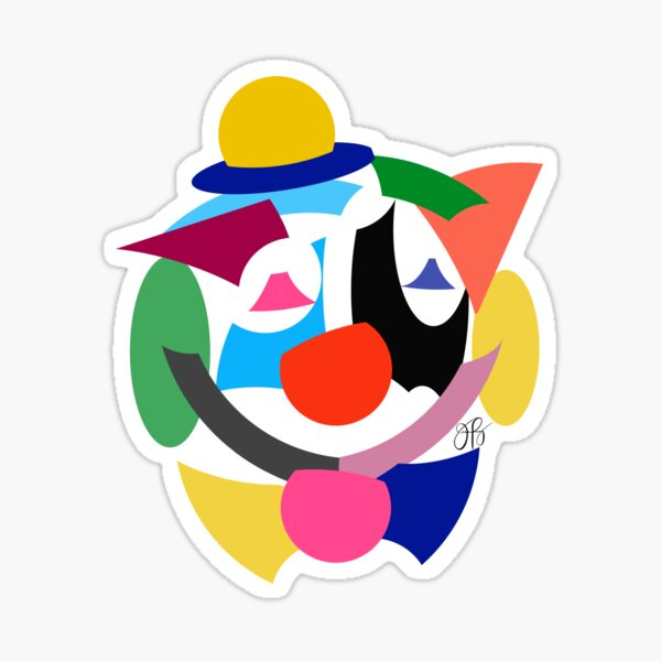 Abstract Clown Sticker