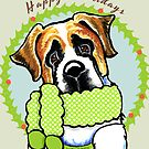 Saint Bernard Happy Howlidays by offleashart