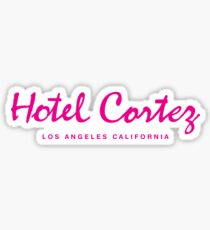 HOTEL CORTEZ Los Angeles California - Neo Noir Sticker