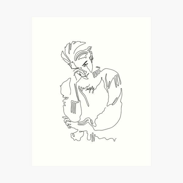 Taeyong NCT lineart Art Print