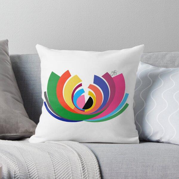Abstract Lotus Throw Pillow