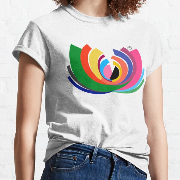 Abstract Lotus Classic T-Shirt