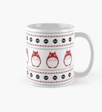 Totoro Winter Pattern - Red Mug