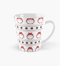 Totoro Winter Pattern - Red Tall Mug