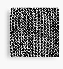 Hand Knitted Black Small Canvas Print