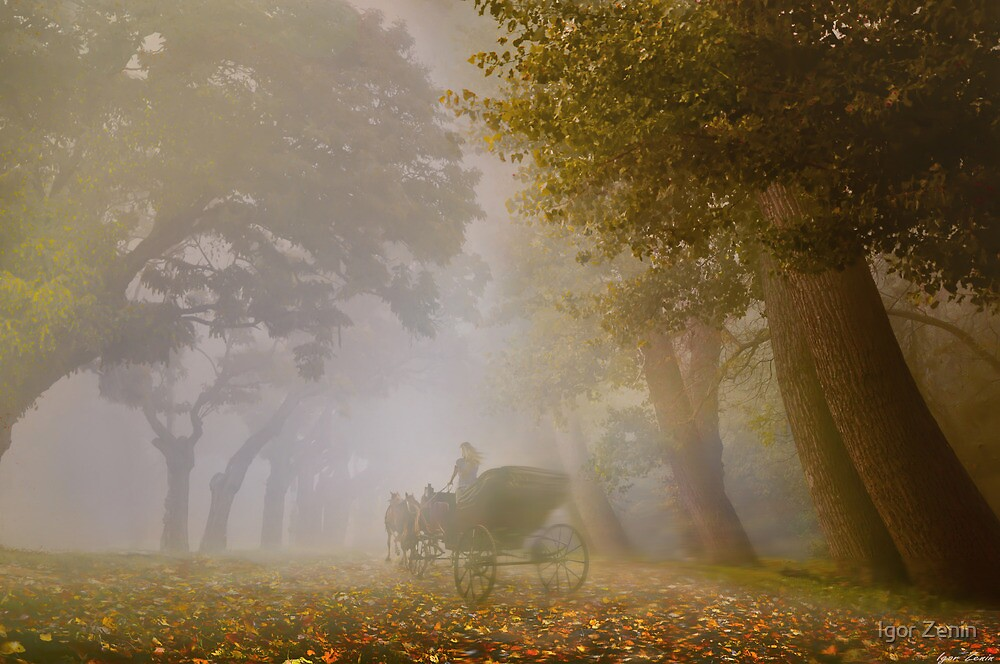 Autumn Carriage by Igor Zenin