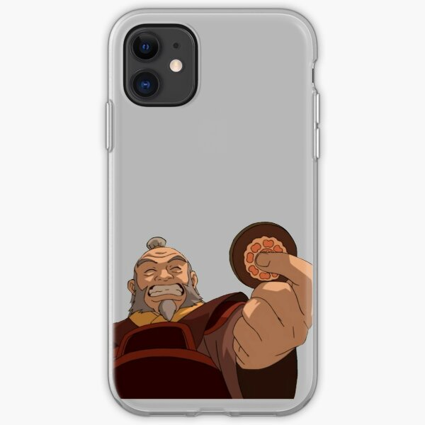 uncle iroh holding a lotus tile iPhone Soft Case