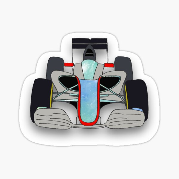 Racing Car Sticker