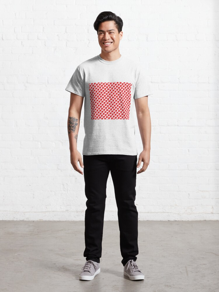 Alternate view of Canadian Maple Leaf Houndstooth Classic T-Shirt