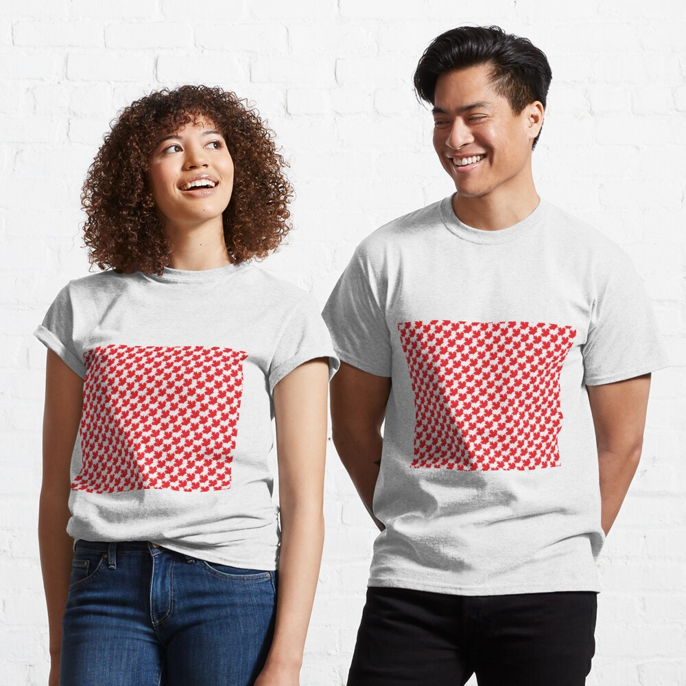 Canadian Maple Leaf Houndstooth Classic T-Shirt