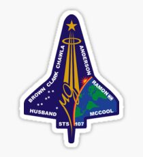 STS-107 Space Shuttle Columbia Mission Logo Sticker