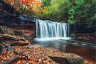 Oneida Falls angled view by Aaron Campbell
