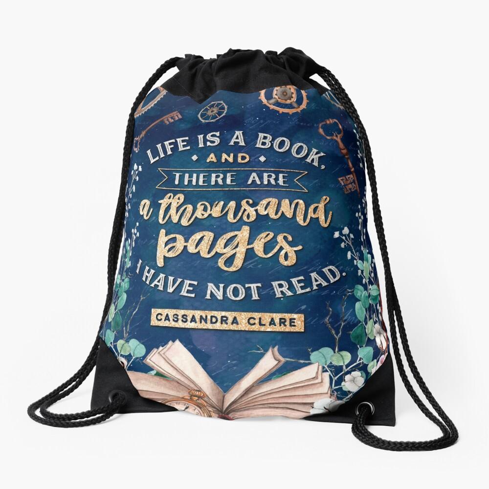 Life is a book Drawstring Bag