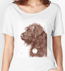 Chocolate Labradoodle Women's Relaxed Fit T-Shirt