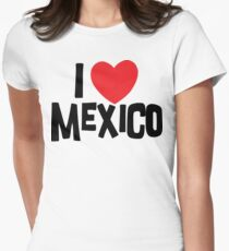 I Love Mexico Women's Fitted T-Shirt