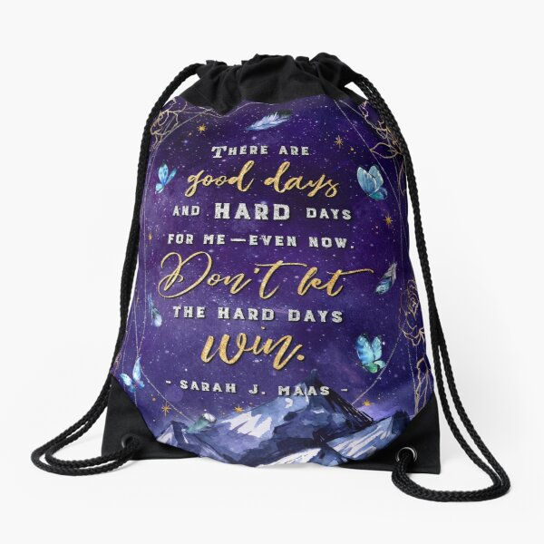 There are good days Drawstring Bag