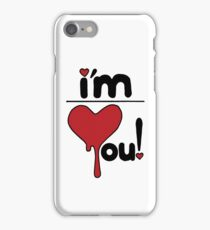 i'm over you! iPhone Case/Skin