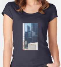 REFLECTIONS OF MELBOURNE ARCHITECTURE Women's Fitted Scoop T-Shirt