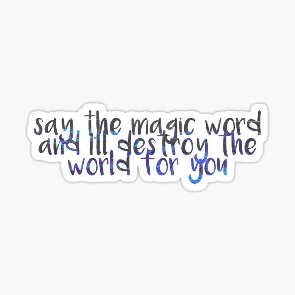 Magic Word Sticker