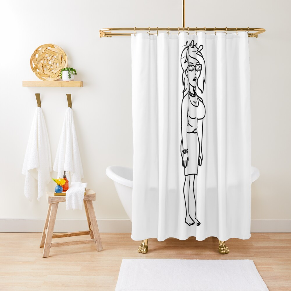 Unity   Rick and Morty character Shower Curtain